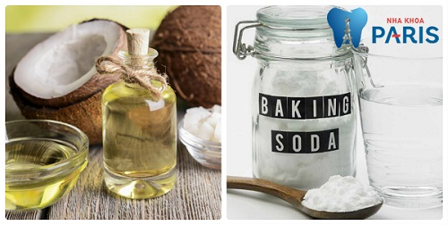 Cách làm trắng răng bằng dầu dừa và baking soda