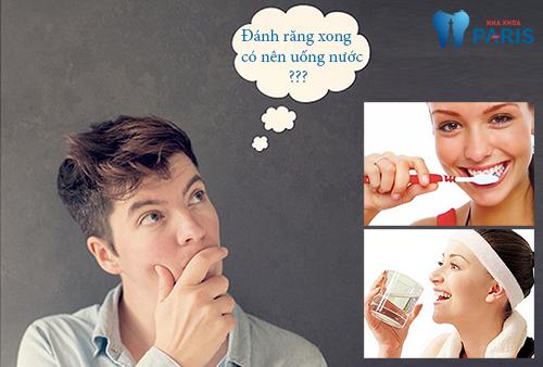 Đánh răng xong có nên uống nước không