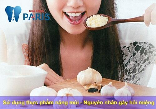 Nguyên nhân gây hôi miệng do chế độ ăn uống