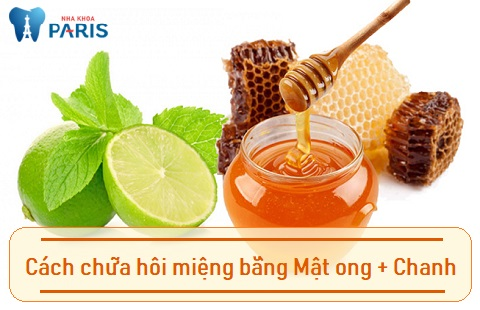 Sử dụng mật ong + chanh là cách chữa hôi miệng cho trẻ hiệu quả