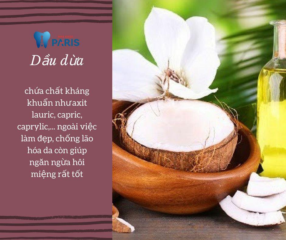 cách chữa hôi miệng bằng dầu dừa tại nhà