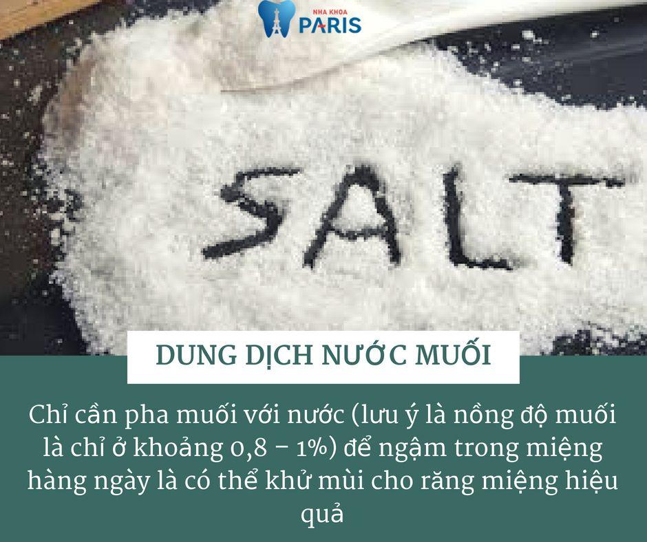 cách chữa hôi miệng tại nhà với nước muối