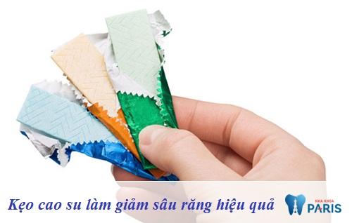 Cách chữa sâu răng với kẹo cao su