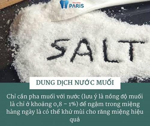Cách chữa hôi miệng dân gian bằng muối